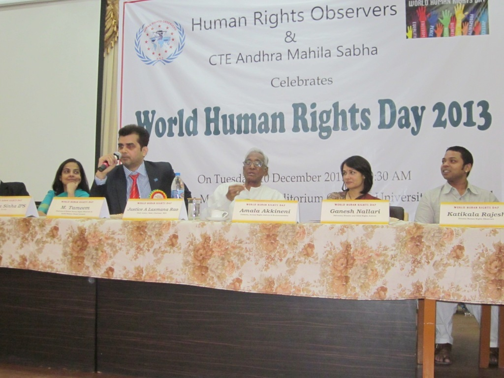 Chairman of Human Rights Observers Mr. Tameem marked UN Human Rights Day with a historic speech 1