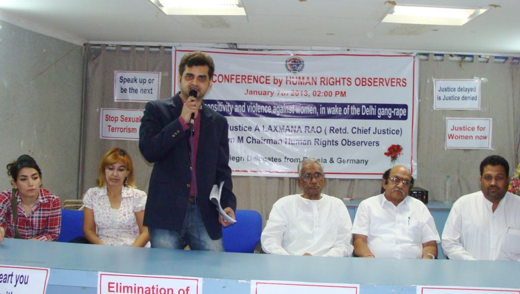 Human Rights Observers Chairman M Tameem Condemns Delhi gang-rape incident, calls for urgent reforms1