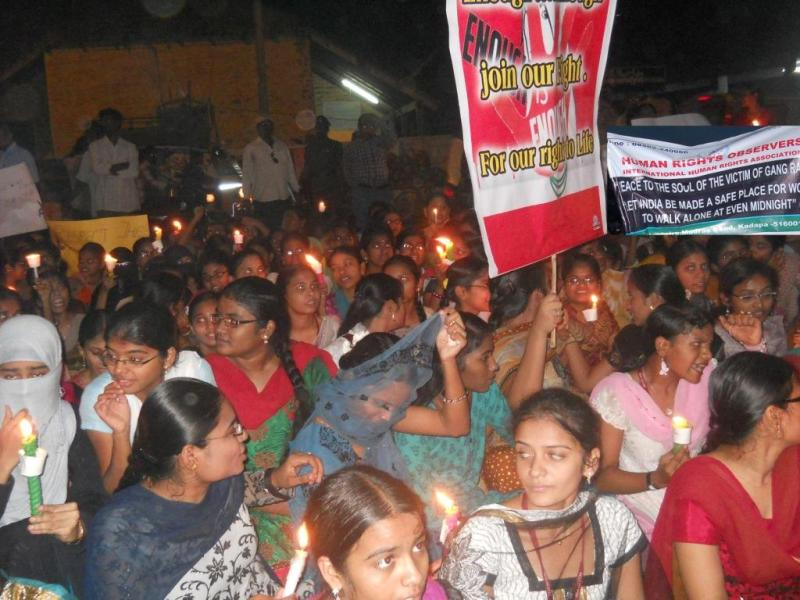 Human Rights Observers protest against Delhi gang rape-1
