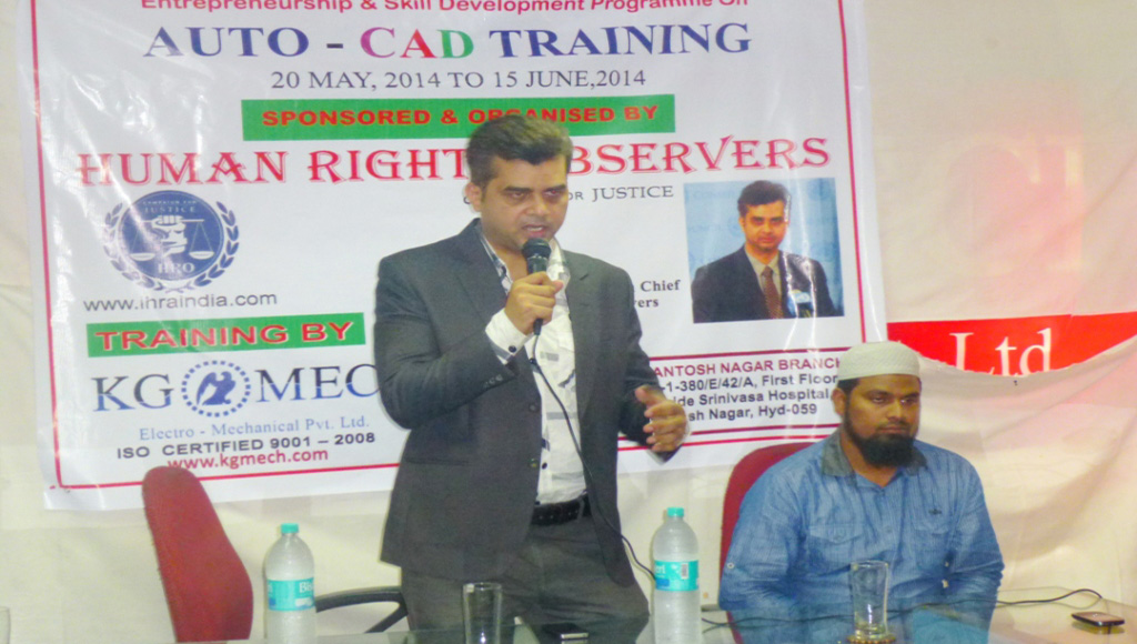 Tameem Inaugurates free auto CAD training centre in Hyderabad