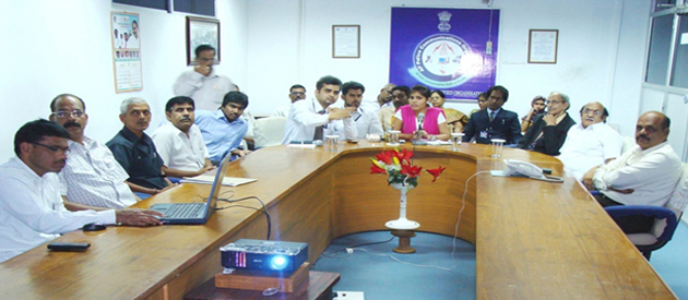 Seminar at DGP office IG Anjana Sinha IPS, Addl. DGP Gopal Reddy and M Tameem Chairman, in a presentation.