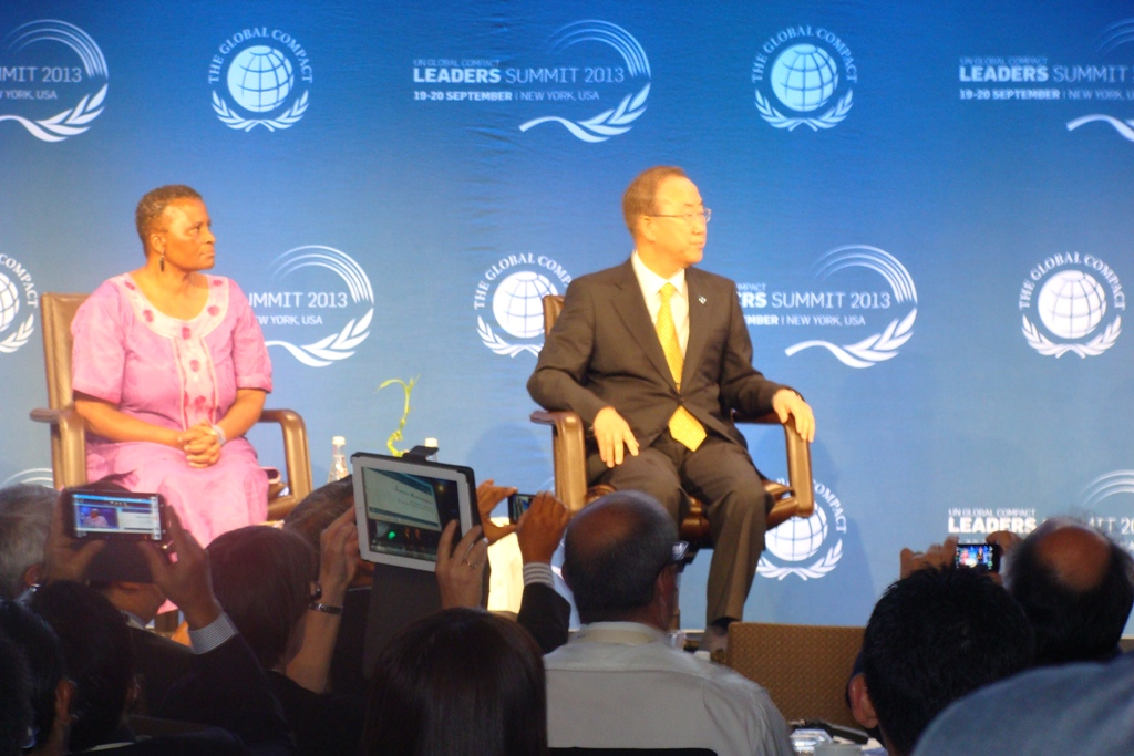 tameem with ban kimoon at united nations global compact leader summit meeting