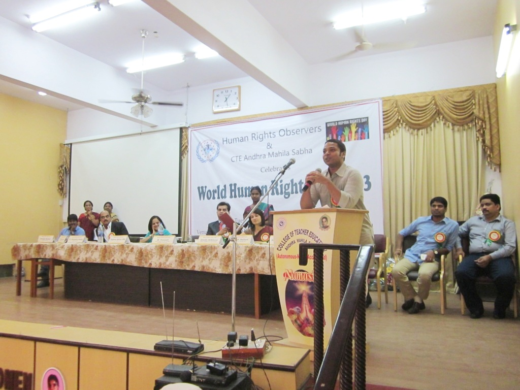 world human rights day 2013, ihraindia,ganesh nallari, 14