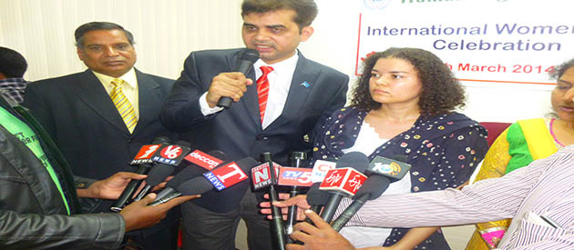 M Tameem addresses press conference on the occasion of International women's day
